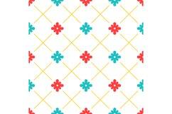 White turkish ornamental ceramic tile Product Image 1