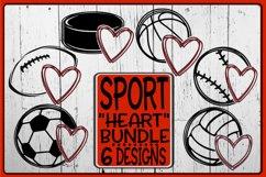 Sport Bundle - Heart - 6 Designs - SVG PNG EPS DXF Product Image 1
