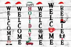 Christmas Porch Sign Bundle SVG, DXF, PNG, EPS Product Image 1