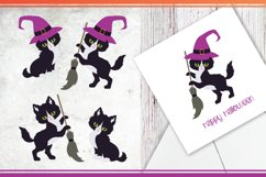 Black cats. Halloween clip art Product Image 5