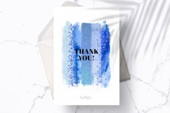 Indigo brush strokes clipart, blue watercolor PNG elements Product Image 5