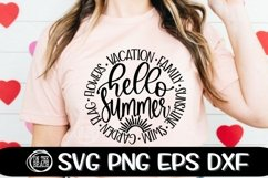 HELLO SEASONS- FALL SPRING SUMMER WINTER - SVG PNG EPS DXF Product Image 3