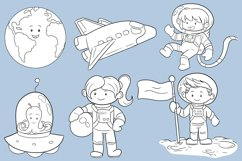 Space Kids Science Digital Stamps Product Image 2