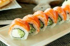 Delicious fresh sushi rolls Product Image 1