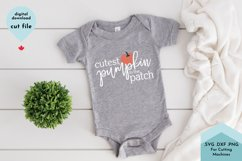 Cutest Pumpkin SVG, Baby shirt svg, Fall svg Product Image 1