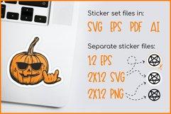 Sticker Bundle - Halloween Sticker Pack, Pumpkin Stickers Product Image 2