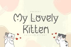 My Lovely Kitten - Cat Display Font Product Image 1