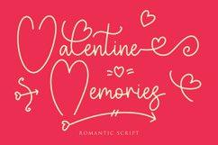 Valentine Memories Romantic Font Product Image 1