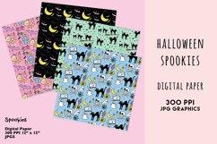 Halloween Digital Paper Set, Spookies Pastel Halloween paper Product Image 2
