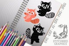 Red Panda 1 Bundle SVG, Silhouette Studio, Cricut, Eps, JPEG Product Image 1