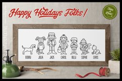 Cute Christmas Clan - Family Characters svg cutfiles vector Product Image 2