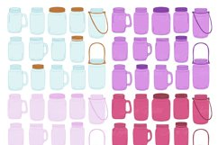 Purple Mason Jar Floral Purple Wedding Clipart Product Image 3