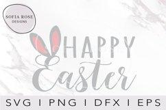 Happy Easter SVG Easter Bunny Ears SVG, Easter SVG Product Image 1