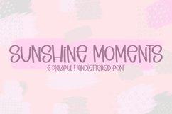 Sunshine Moments - A Playful Handlettered Font Product Image 1