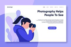 photography landing page flat design Product Image 1
