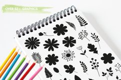 Flower silhouettes Graphics and illustrations, vecto Product Image 3