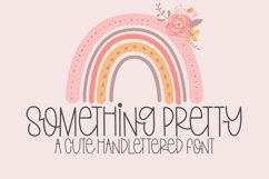 Something Pretty - A Cute Handlettered Font Product Image 1