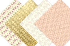 Gold Floral Digital Patterns - Digital Scrapbook Paper Product Image 4