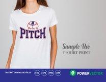 Svg Baseball Pitcher. Baseball Player Svg. Pitcher Vector Clip art - Svg, Dxf, Eps Cut Files  Product Image 3