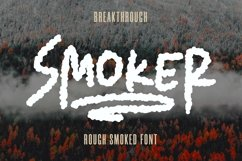Web Font Smoker - Rough Smoked Font Product Image 1