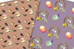 Easter digital paper pack.Vintage pattern. Product Image 5