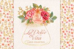 Watercolor glitter floral collection Product Image 1