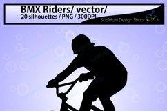 bmx rider silhouette / BMX Rider svg / bmx riders / bmx cycle / bmx rider cliparts / bmx rider vector / bike ride / SVG / EPS / Png / DXf Product Image 3