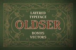 Oldser Typeface + Bonus Vectors Product Image 1