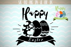 Happy Easter SVG, Easter Eggs SVG, Happy Easter, Silhouette Cut Files, Cricut Cut Files, Svg Files Product Image 1