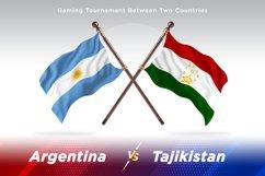 Argentina vs Tajikistan Two Flags Product Image 1