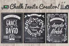 Chalk Invite Creator Bundle Wedding Save Date Vintage Event Product Image 1