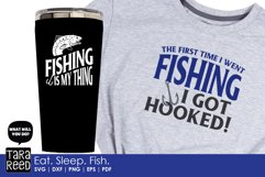 Eat Sleep Fish - Fishing SVG and Cut Files for Crafters Product Image 5