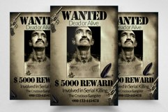 Vintage Wanted Poster Flyer Template Product Image 1