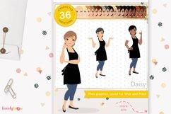 Chalk artist woman, avatar clipart, LVC64 Daisy Product Image 1