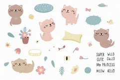 Cute kitten clipart and patterns Product Image 2