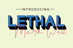 Lethal Markwell Duo Font Product Image 1
