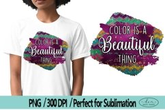 Color is a beautiful thing Colorful PNG Black Lives Matter Product Image 1