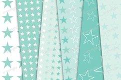 Pastel mint stars seamless digital paper Product Image 2