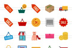 25 Black Friday Flat Multicolor Icons Product Image 2