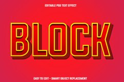 red block text effect Product Image 1