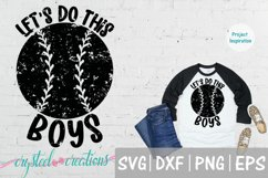 Let's Do This Boys Baseball SVG, DXF, PNG, EPS Product Image 1