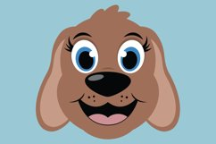 Cute Dog SVG Cut Files, PNG dog clipart, happy puppy face Product Image 3