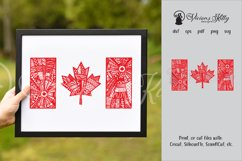 Canada flag zentangle, Canadian, maple leaf, Canada Day Product Image 1