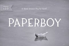 Paperboy | A Hand Drawn Playful Serif Product Image 1