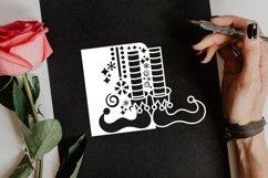 Papercut Elf Legs Card Cover, Christmas Invitation Design Product Image 4