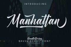 Manhattan Brush Script Font Swash Product Image 1