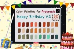 Color Palettes set for Procreate - Happy Birthday V.2 Product Image 1