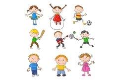 Set of Twenty-six Cartoon Little Kids Character Product Image 2