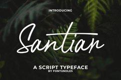 Web Font Santiar Product Image 1