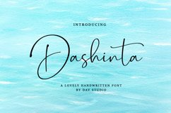 Dashinta - Lovely Handwritten Font Product Image 1